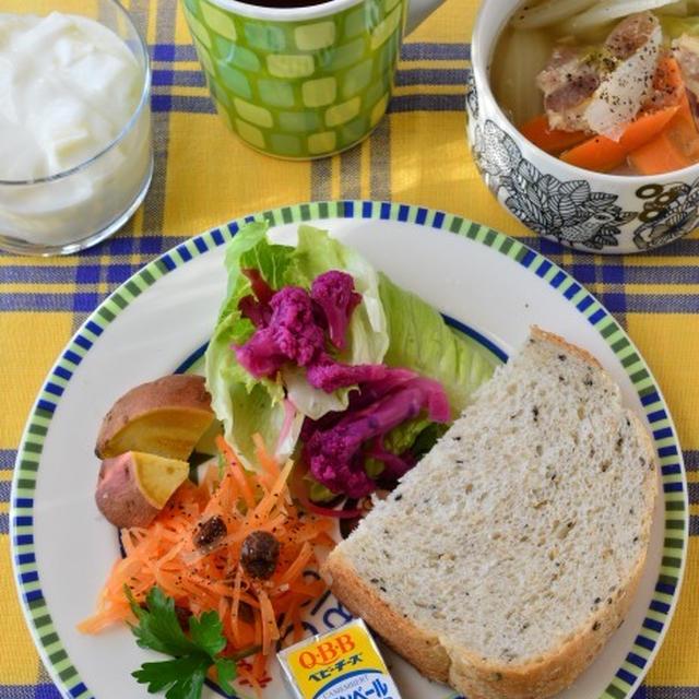 野菜たっぷり朝ご飯