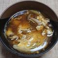 ミョウガとブナシメジの卵とじ汁