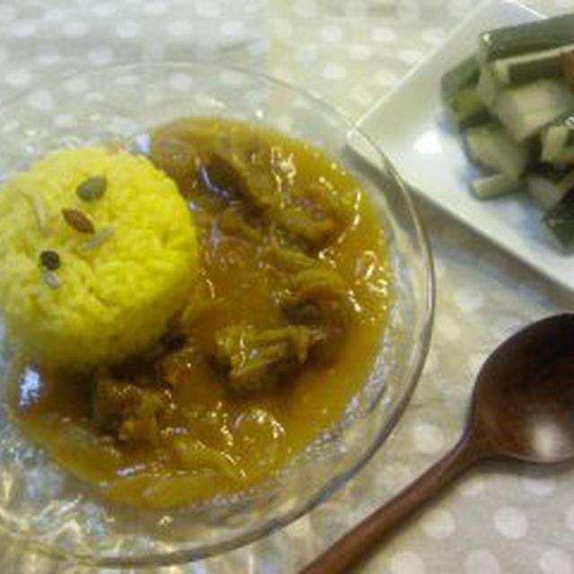 つくれぽ☆キュウリのナンプラー甘酢漬けと、レシピ醤油麹の牛スジカレー