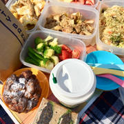 休日の土曜日 簡単弁当で公園ピクニック