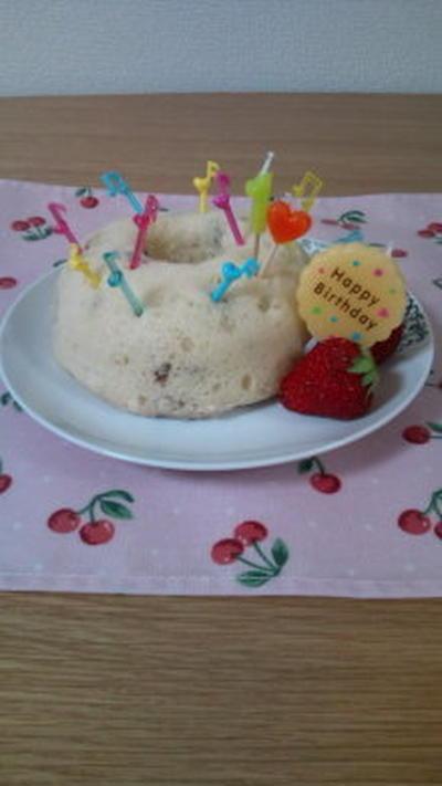 レンジでスチームケーキ