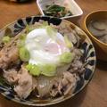 【1人200円15分以内】運動会シーズンにオススメ♡豚丼+サラダ+味噌汁