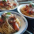 お昼は簡単スパゲッティー。 by いっちゃん♪さん