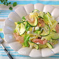 動画公開!生でおいしい夏白菜とズッキーニのはちみつレモンマリネ♪