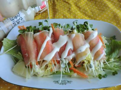 >ごちそうサラダ♪ 野菜たっぷりの生ハム巻き♪ 【モニター】  by かんなさん
