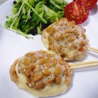納豆鶏つくねのお夕食*