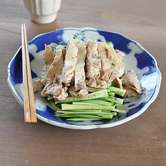 蒸し鶏(きゅうりたっぷり)