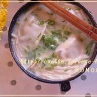 生姜とえのきと炒めねぎどっさりのスープ餃子
