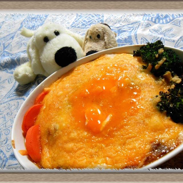これぞ!洋食!『半熟卵のダブルソースハンバーググラタン』あたたか家ごはん
