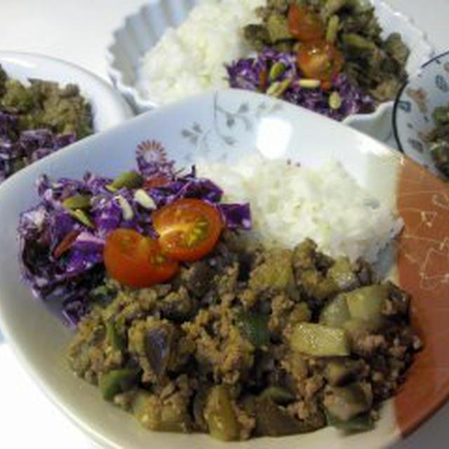レシピ茄子と挽き肉のカレー