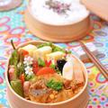 焼き肉のタレで韓国風肉じゃがのお弁当 by shokoさん