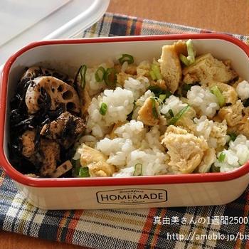 冷凍豆腐のチャーハン風混ぜごはん弁当