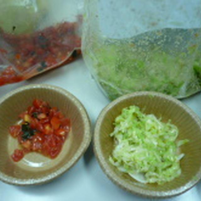 BBQ 2種の肉のたれ(トマトとねぎ塩)