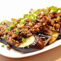 茄子のステーキ*甘辛ガーリックきのこソース