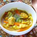鶏胸肉とキャベツのカレースープ【ダイエット・キャベツの大量消費にも】|レシピ・作り方