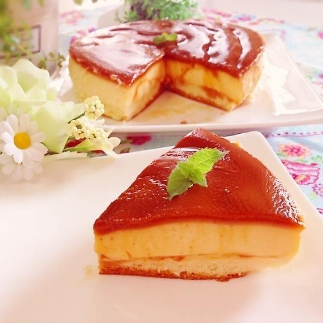 簡単♡勝手に2層!とろっシュワ〜秘密にしたいプリンケーキ!