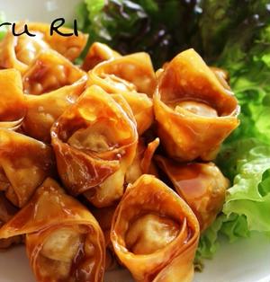 【おすすめ!】高野豆腐でヘルシー&栄養満点★絶品!揚げベジワンタンの甘酢餡かけ。