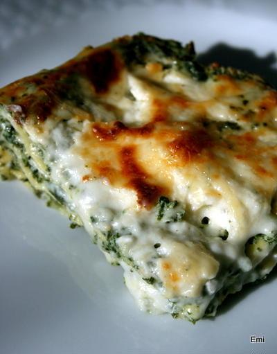 ほうれん草とリコッタチーズチーズのラザーニュ、野菜嫌々時期の孫にでも大人にも好評