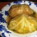 ロールキャベツとマカロニチーズ ~ 牛筋の中華風煮