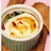 朝ごはんに♪ホウレン草と玉子のココット Scodellina di uova e spinaci