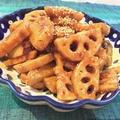 レンコンとサツマイモの甘辛炒め