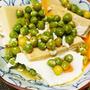 高野豆腐とエンドウ豆の卵とじ