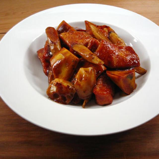 根菜のバルサミコ酢鶏