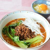 手づくり 炸醬(中華の肉味噌)で担々麺♪追っかけ飯付き