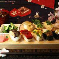 ジュレをのっけて野菜寿司。
