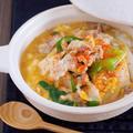 お鍋に入れて煮るだけ5分♪お財布にも胃腸にもやさしい♪『豚たま肉豆腐』