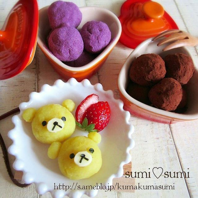 材料3つ♥さつま芋の柔らかミルク餅♥yamaちゃん100