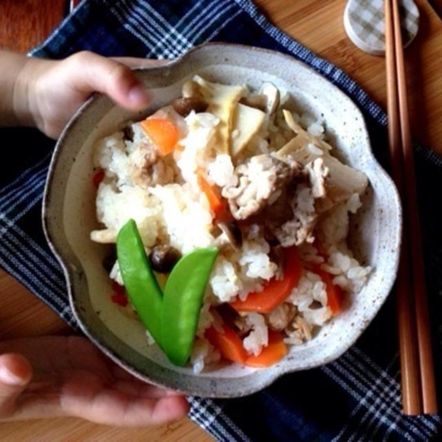 豚肉と竹の子とかの中華風炊き込みご飯。〜始まる!急げー!