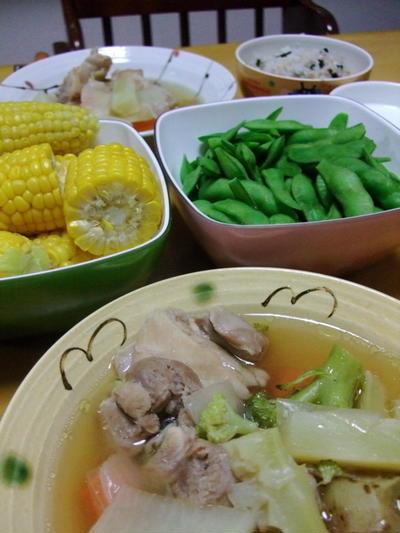 塩鶏のポトフ風〜具だくさん野菜のスープ煮込み