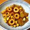昔ながらの味。こんにゃくと大豆の炒め煮。