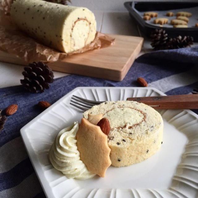 ふわふわ♪スイートポテトクリームのロールケーキ♪