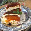 干し柿のバニラクリームチーズハニーミルフィーユ仕立て