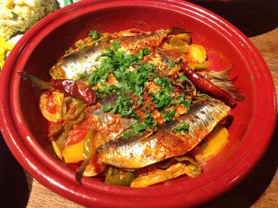 ◆サフランとパプリカで、鰯のスペイン風蒸し煮