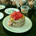 孫ちゃんが二人でデコレーションしたよ☆クリスマスケーキ
