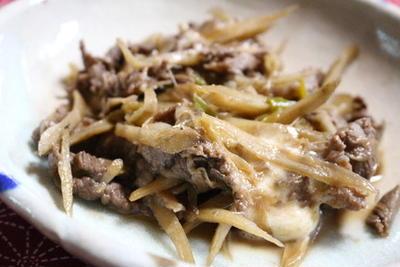 365日レシピNo.278「牛肉とごぼうのすき焼き風煮」