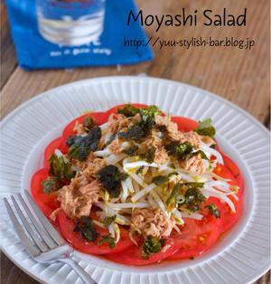 乗せるだけ♩簡単やみつき♩『もやしとツナの海苔ポン酢サラダ』