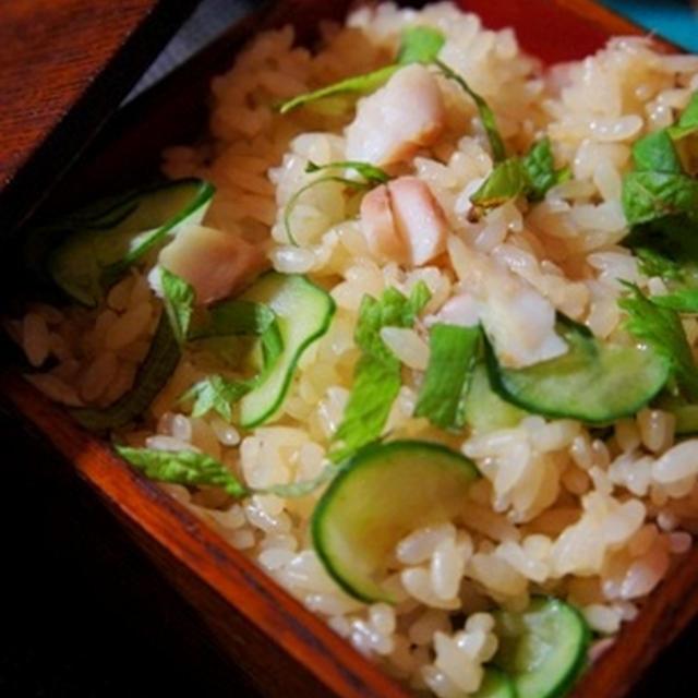 干物女が作る、鰺の干物と胡瓜の夏混ぜ寿司、冬瓜茶碗蒸しでしっとり……手酌酒……