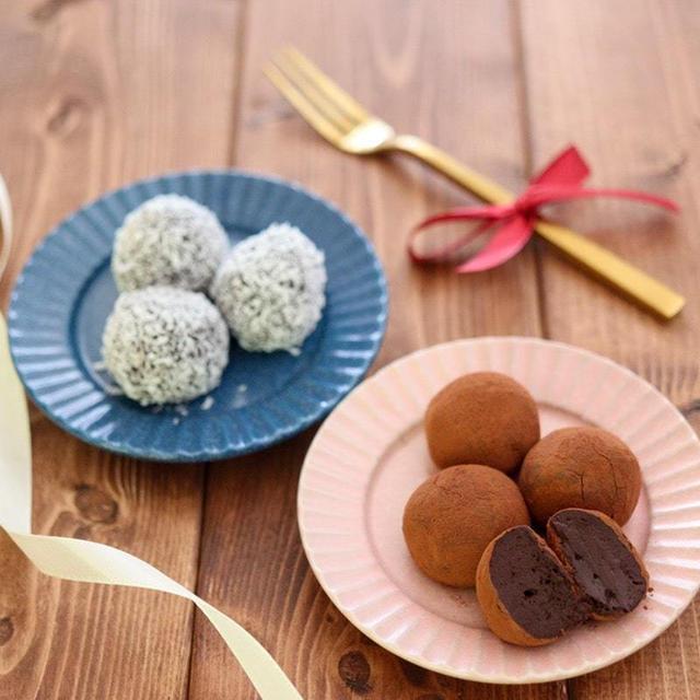 豆腐トリュフ♪ココアパウダーで簡単!チョコなし生クリームなし!バレンタインレシピ