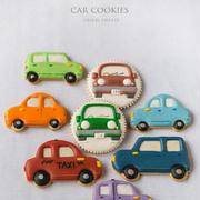 車クッキーとマーブルパン
