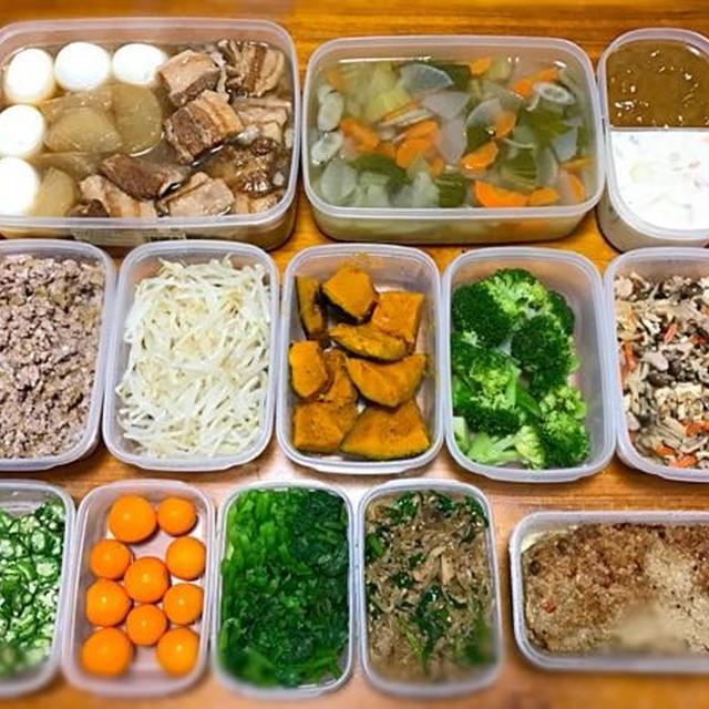 11月20日 作り置き 常備菜 〜肉そぼろ,かぼちゃ煮レシピあります〜