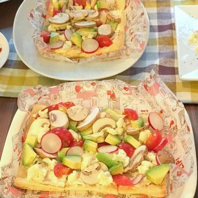 今日サラ♪好きな野菜で!サラダチーズパイ
