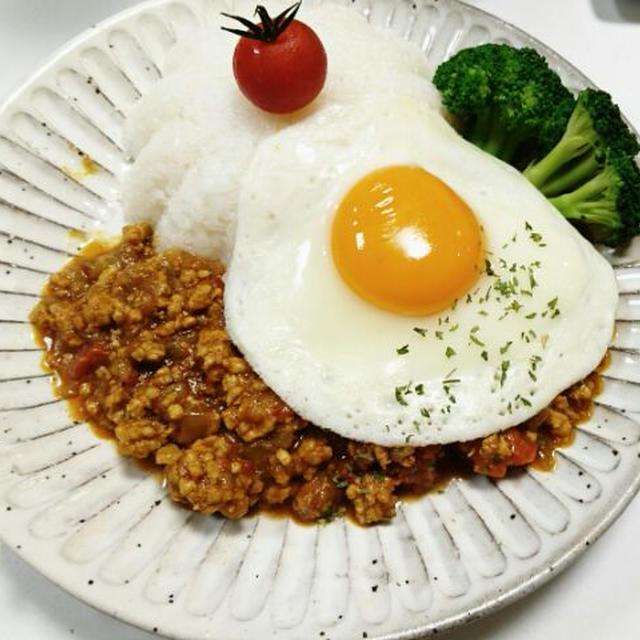 カルダモンの香り豊かなひき肉とトマトのスパイシーカレー