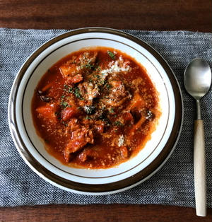 【簡単!!】トマトジュースでトマトスープ*きのことウインナーのトマトチャウダーなど