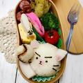 猫ピッチャーおにぎり弁当
