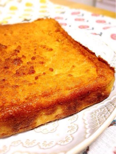 甘茶とおからのお砂糖なしバターケーキ【低糖質おからケーキ】