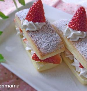 市販のスティックパンで簡単ミルフィーユ風ケーキ